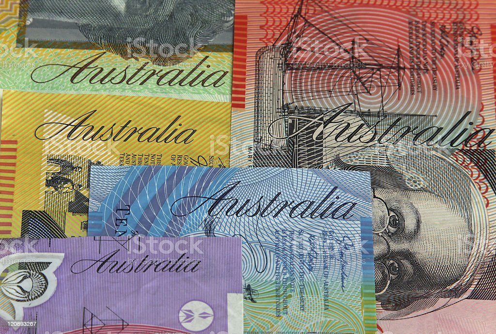 Australian money closeup royalty-free stock photo
