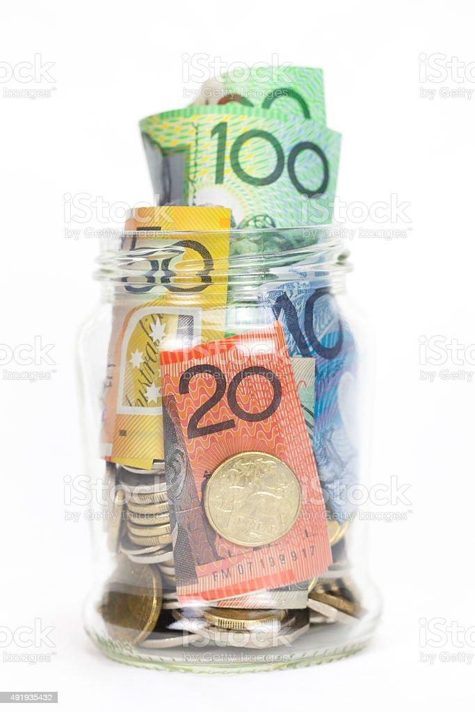 Australian Money Savings stock photo
