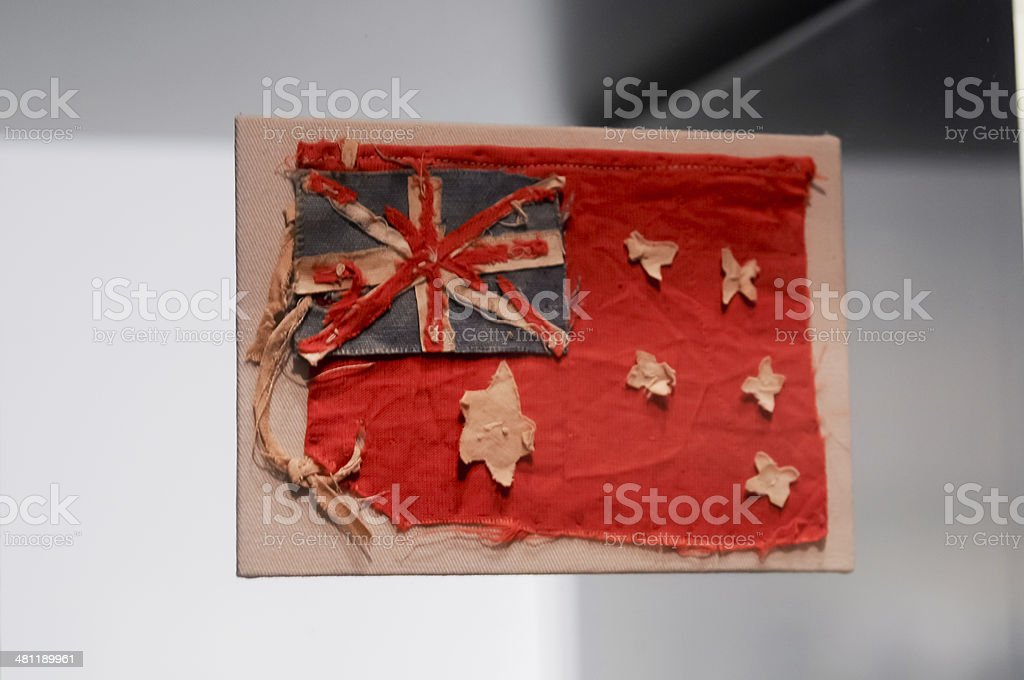 Australian national flag for Anzac army stock photo