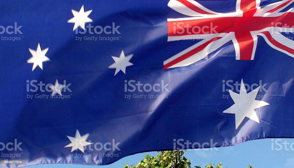 Australian National Flag Waving stock photo
