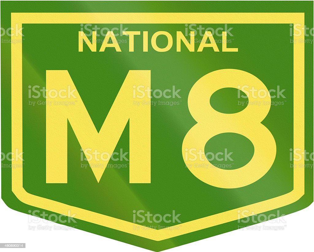 Australian National Highway Number M8 stock photo