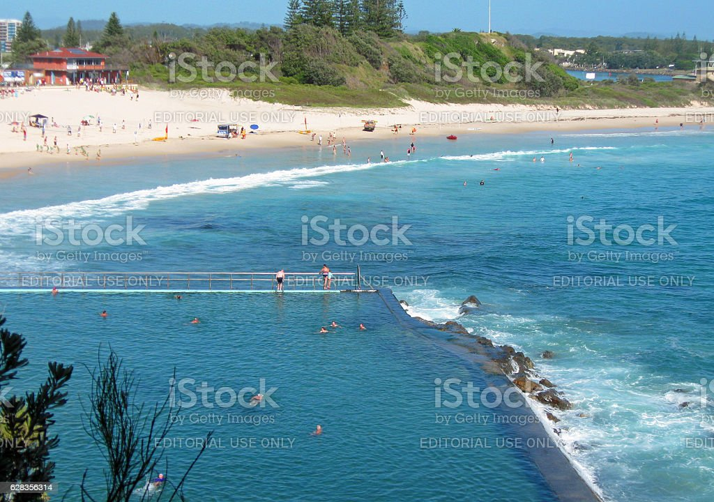 Australian Ocean Pool stock photo