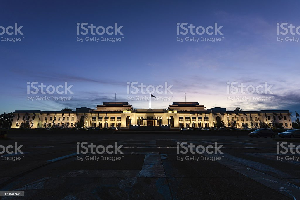 Australian old Parliament House royalty-free stock photo