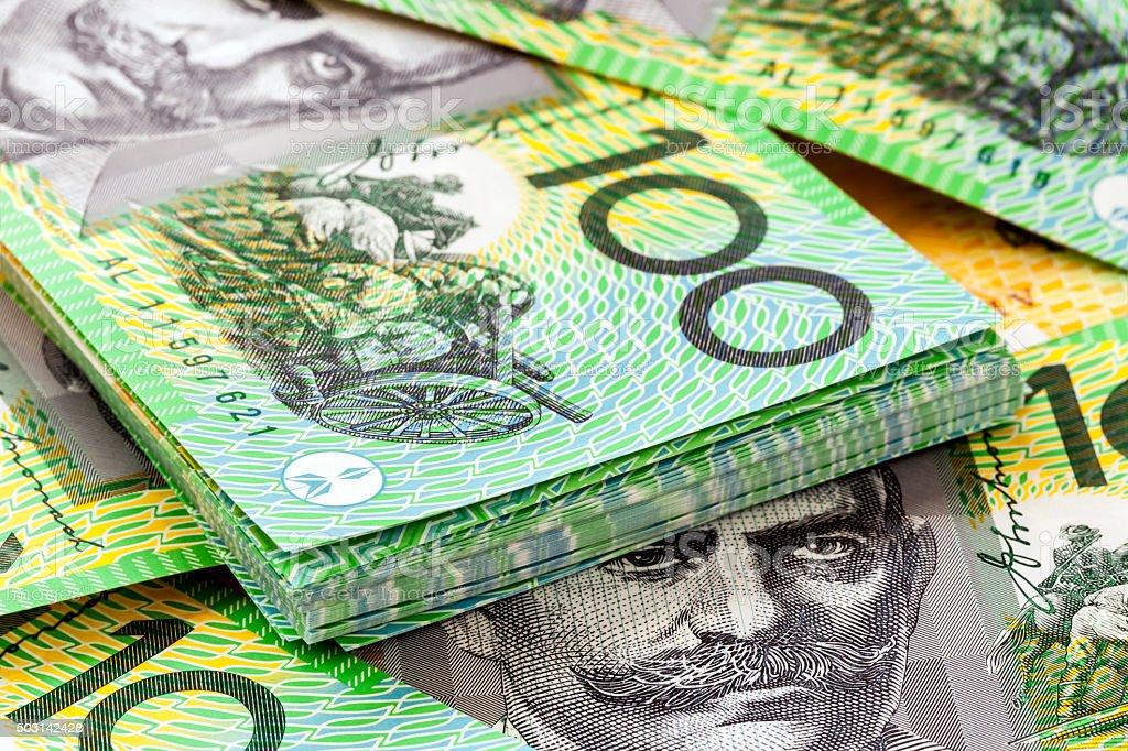 Australian One Hundred Dollar Bills stock photo