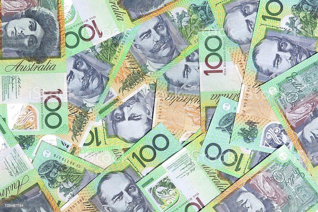 Australian One Hundred Dollar Notes royalty-free stock photo