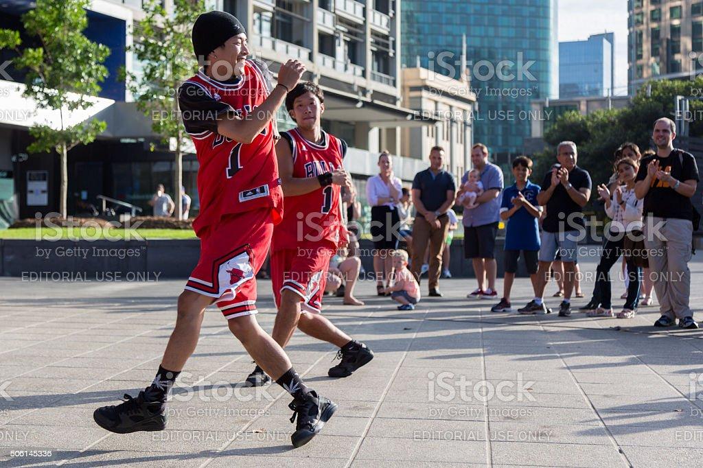2016 Australian Open - Melbourne Street Performers stock photo