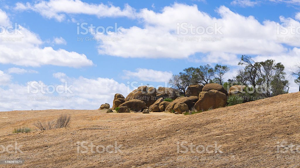 Australian Outback Boulders stock photo