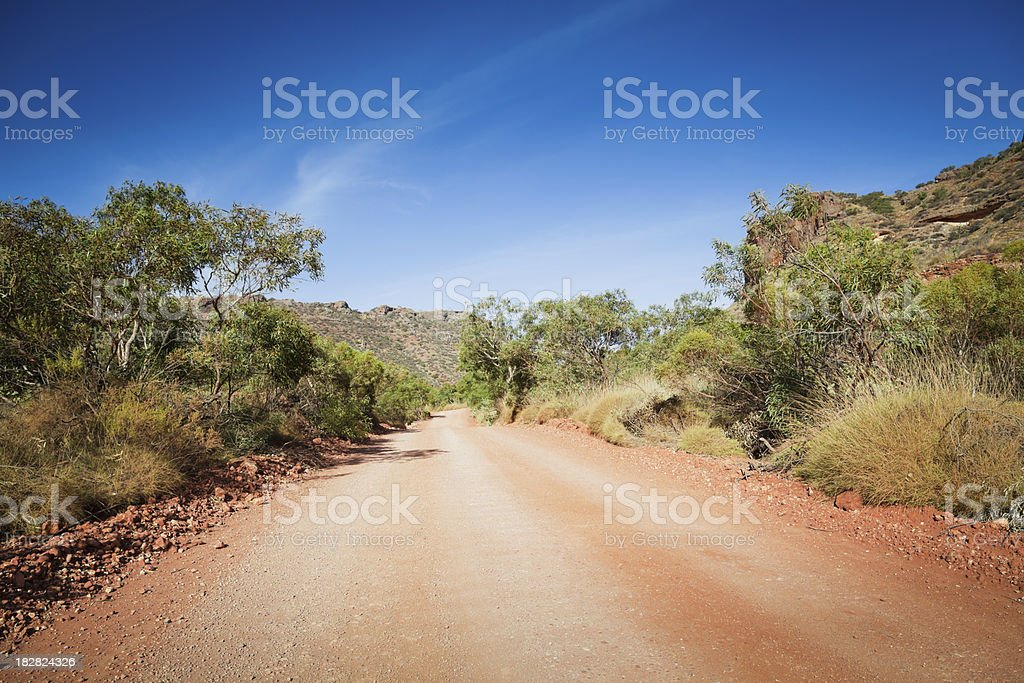 Australian Outback Country Road royalty-free stock photo
