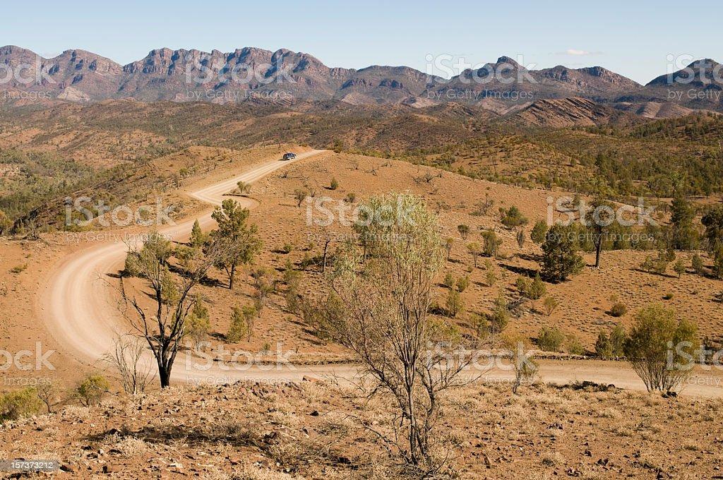 Australian Outback Drive royalty-free stock photo