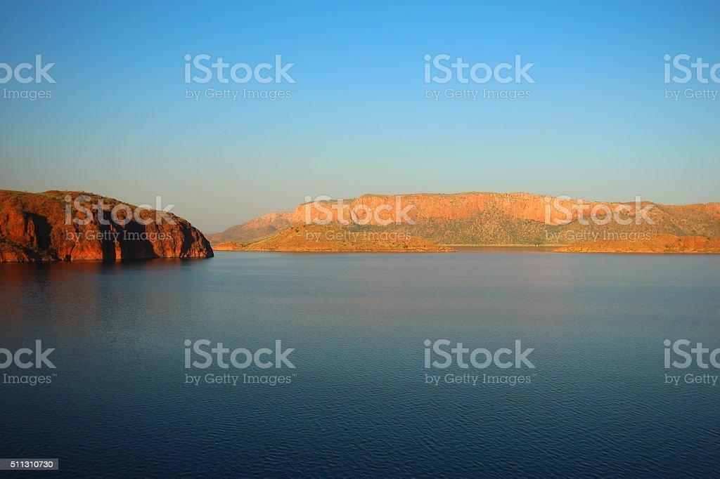 Australian outback - Lake Argyle stock photo