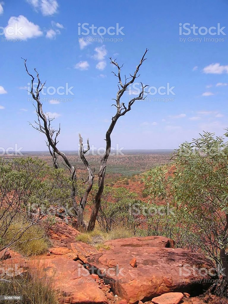 Australian Outback Landscape Red Centre Nobody royalty-free stock photo