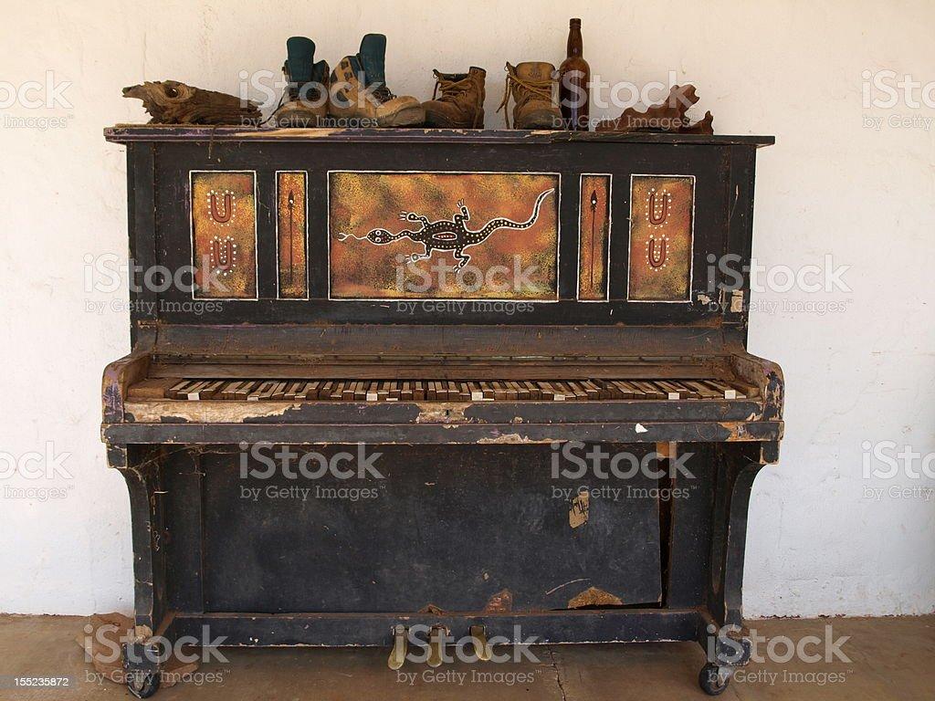 Australian Outback Piano royalty-free stock photo