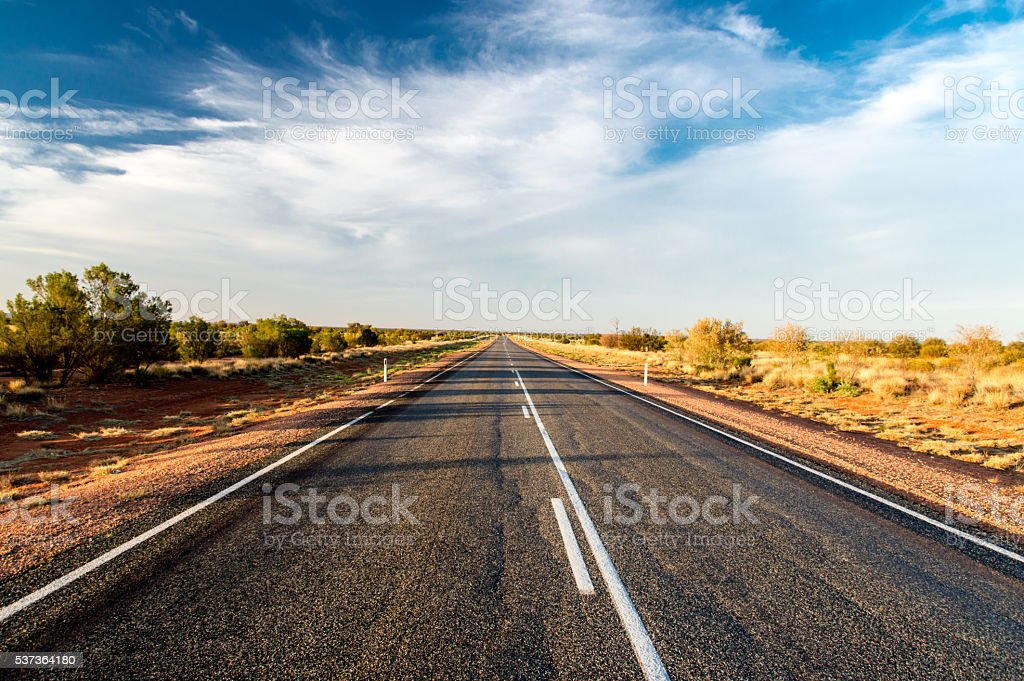 Australian Outback Road stock photo