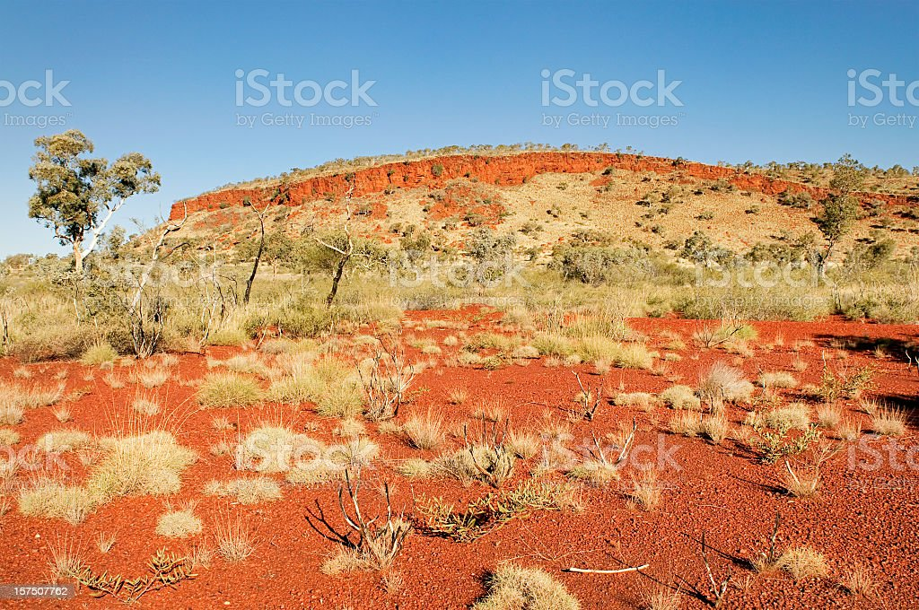 Australian Outback Scene royalty-free stock photo