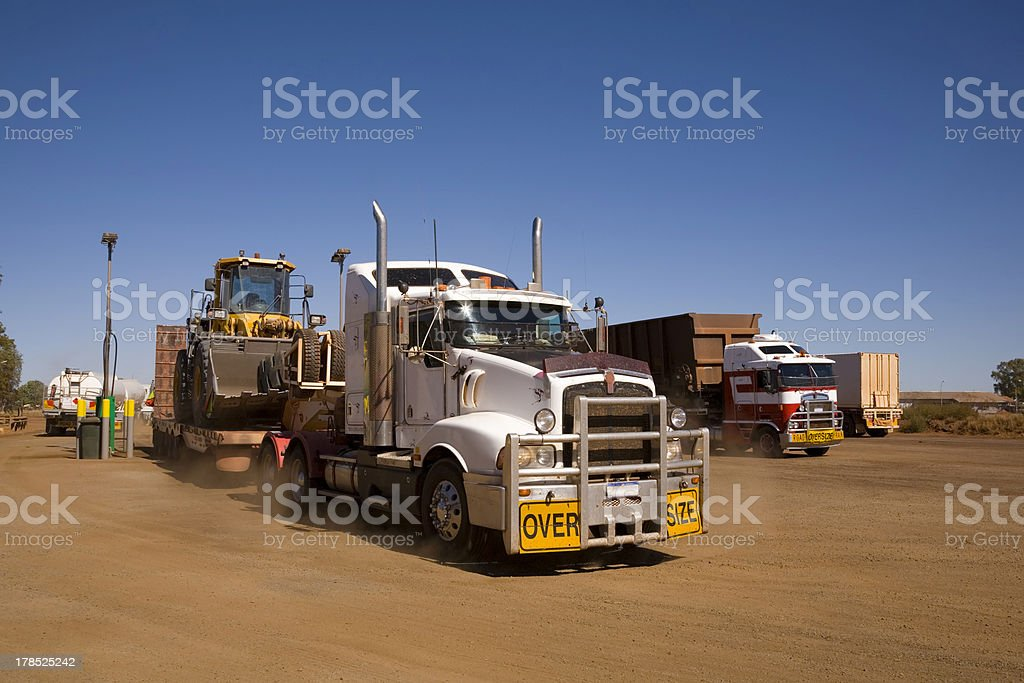 Australian Outback Truck Stop stock photo