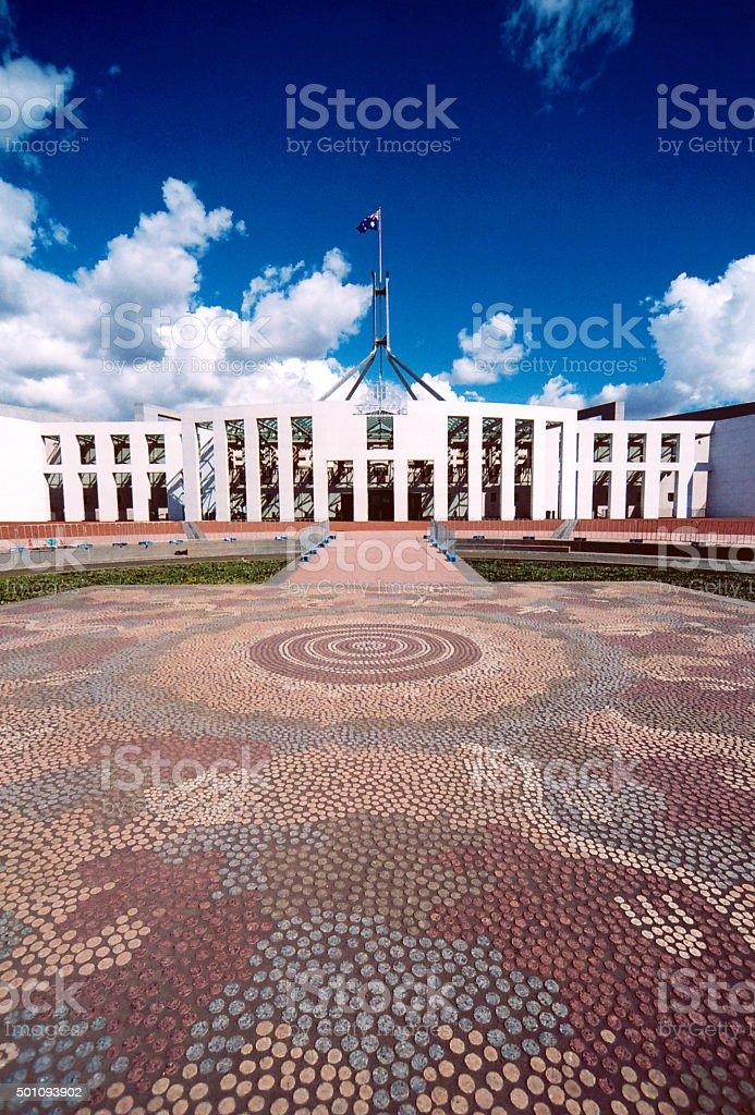 Australian Parliament, Canberra stock photo