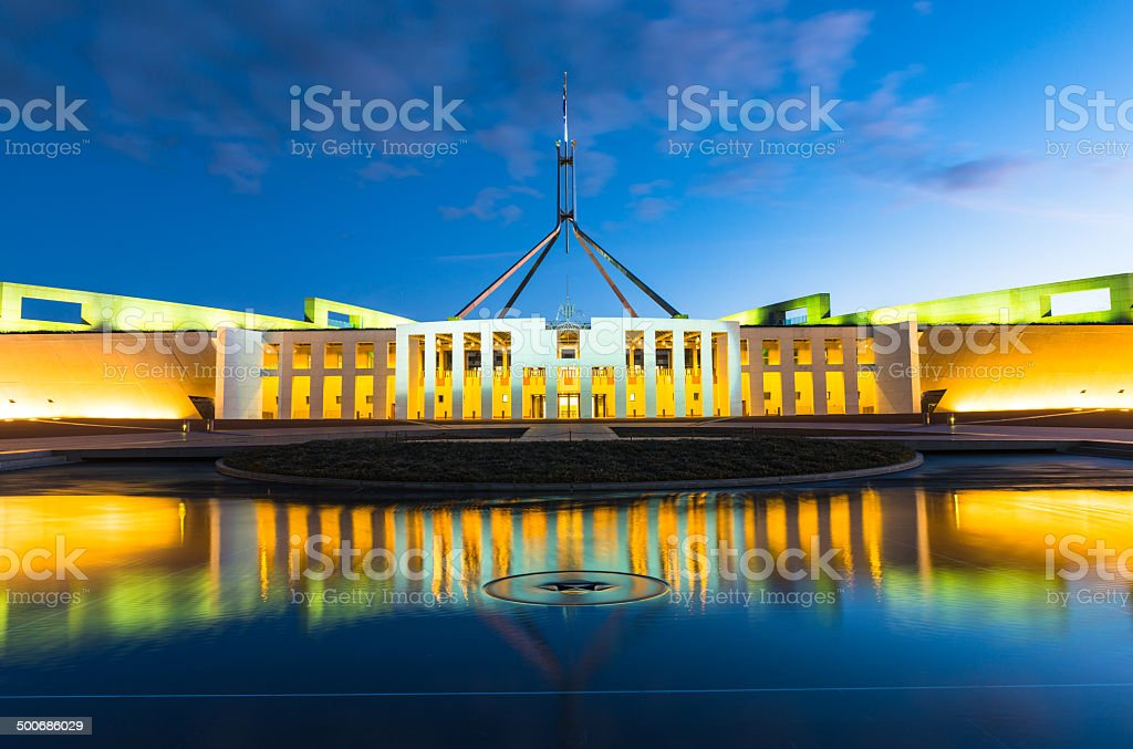 Australian Parliament House in Canberra stock photo