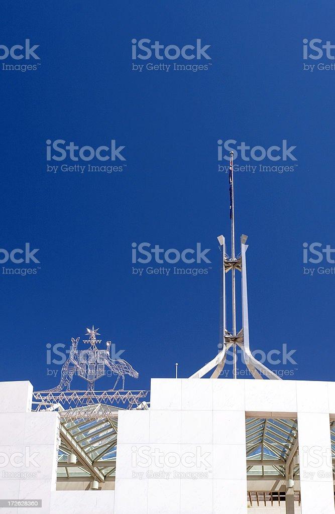 Australian Parliament House royalty-free stock photo