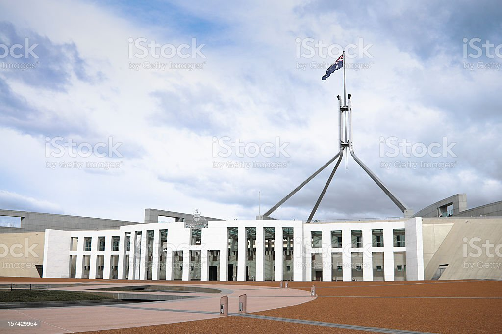 Australian Parliament in Canberra stock photo