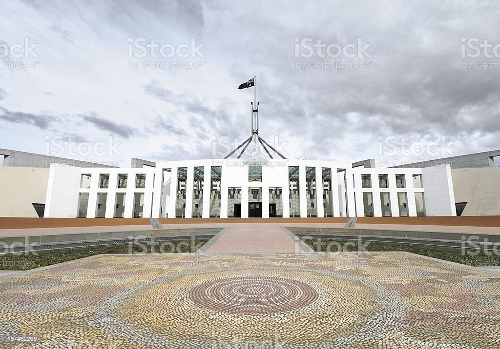 Australian Parliament stock photo