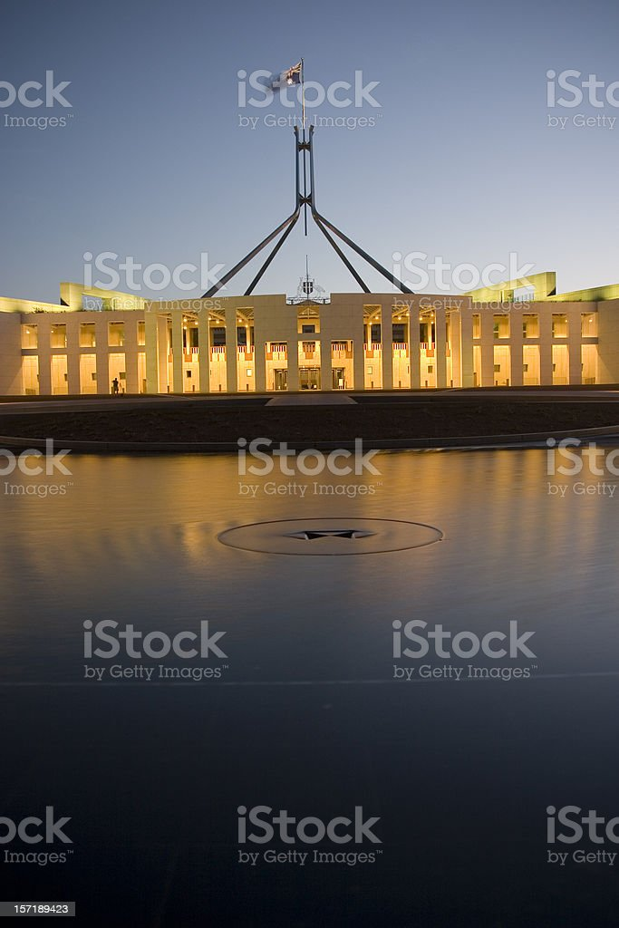 Australian parliment house stock photo