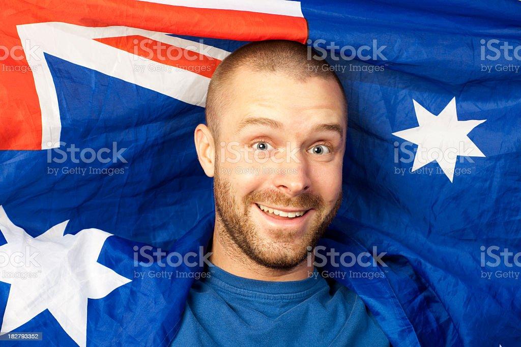 Australian patriotism. stock photo