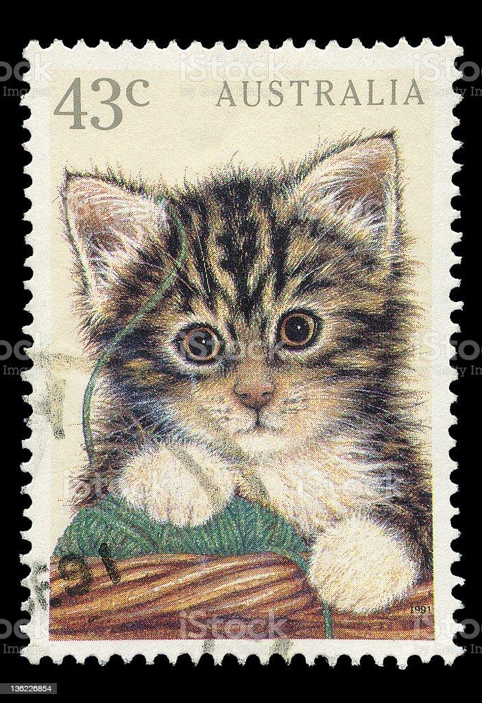 Australian post stamp royalty-free stock photo