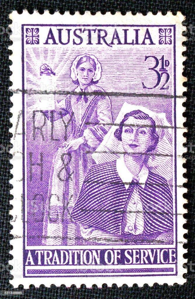 Australian postage stamp, 1955 stock photo