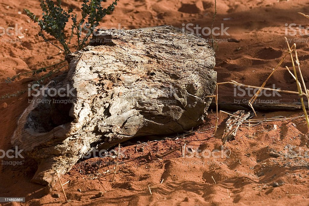 Australian red earth stock photo