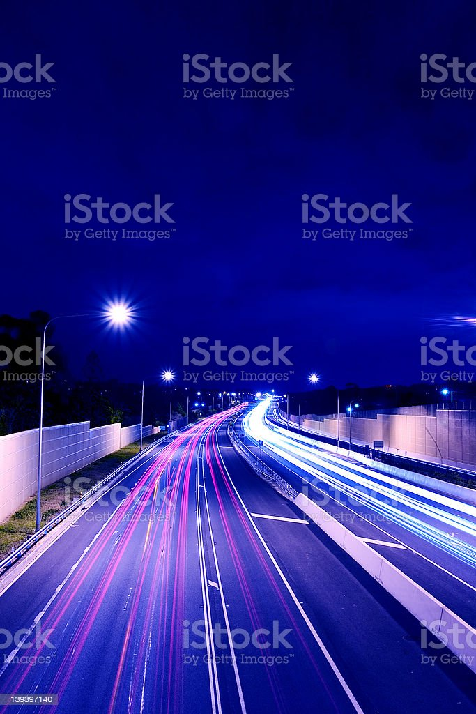 Australian Road: After Dark royalty-free stock photo