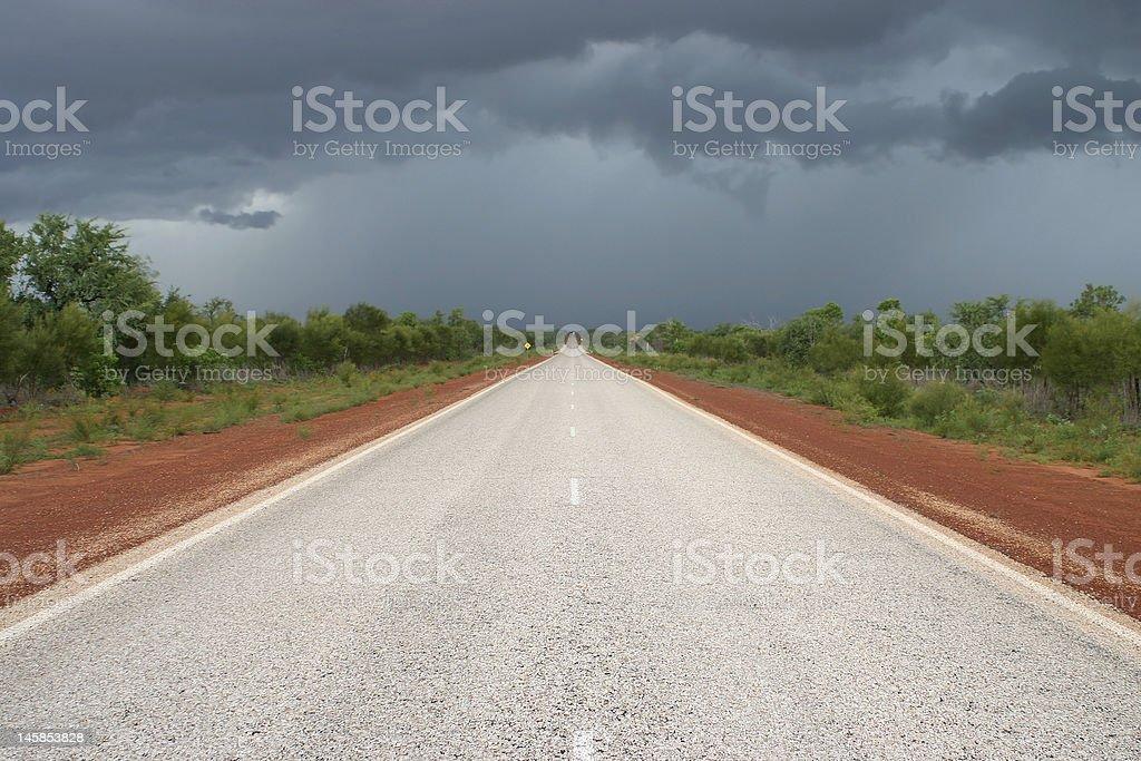 Australian road royalty-free stock photo