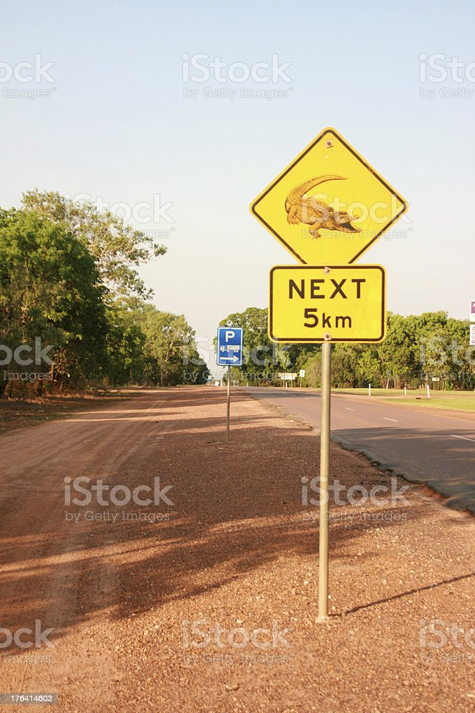 Australian road sign. royalty-free stock photo