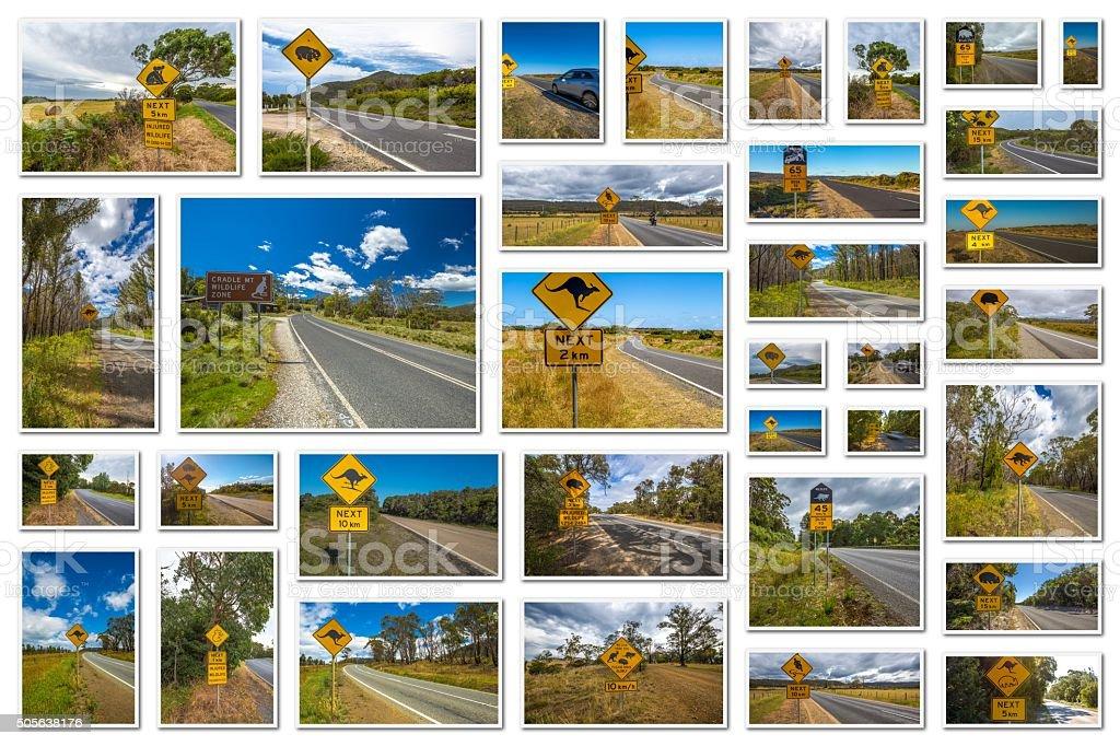 Australian road signs stock photo