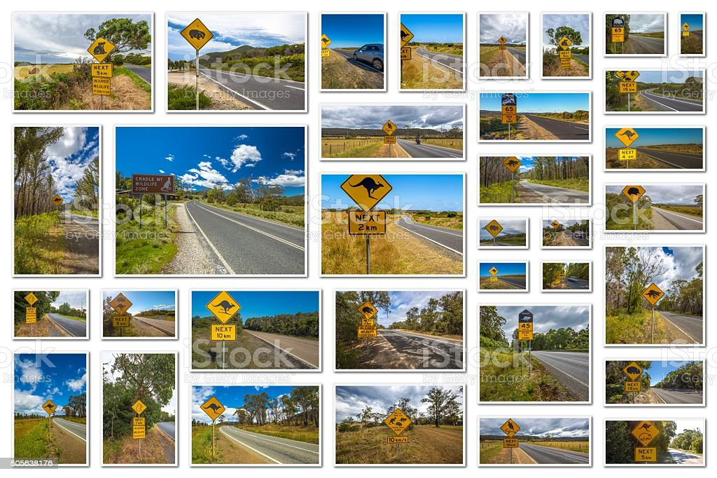 Australian road signs stock photo