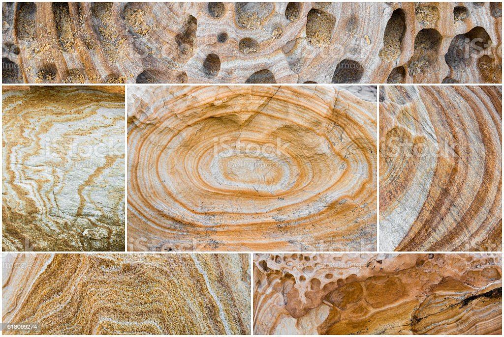 Australian rock formation background, sandstone texture stock photo