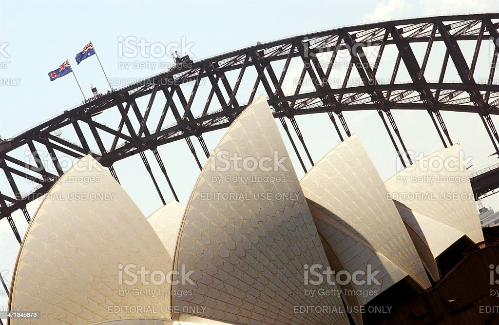 Australian Roof and Bridge royalty-free stock photo