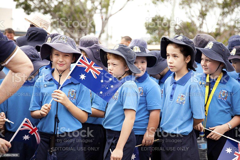 Australian School Children stock photo