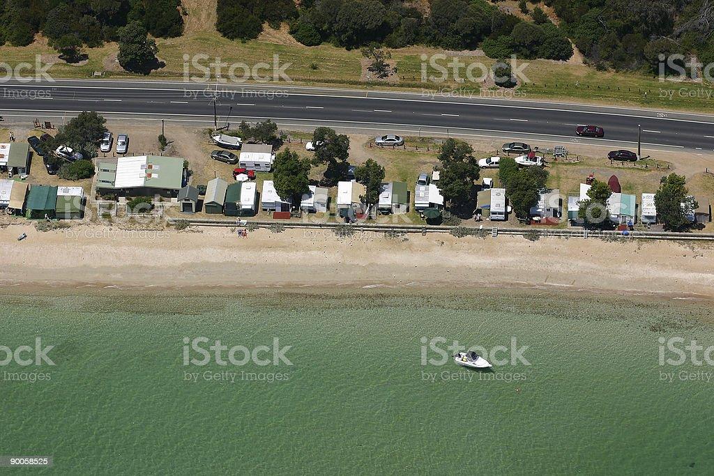 Australian sea-front housing aerial royalty-free stock photo