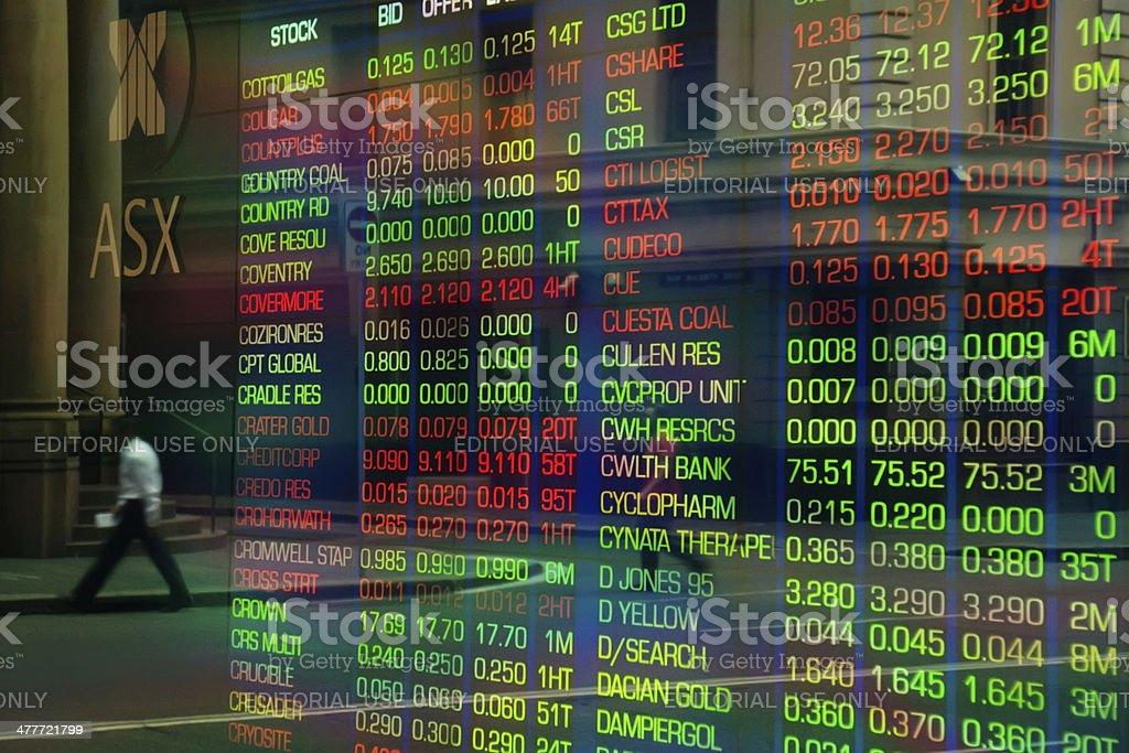 Australian Securities Exchange (ASX) royalty-free stock photo
