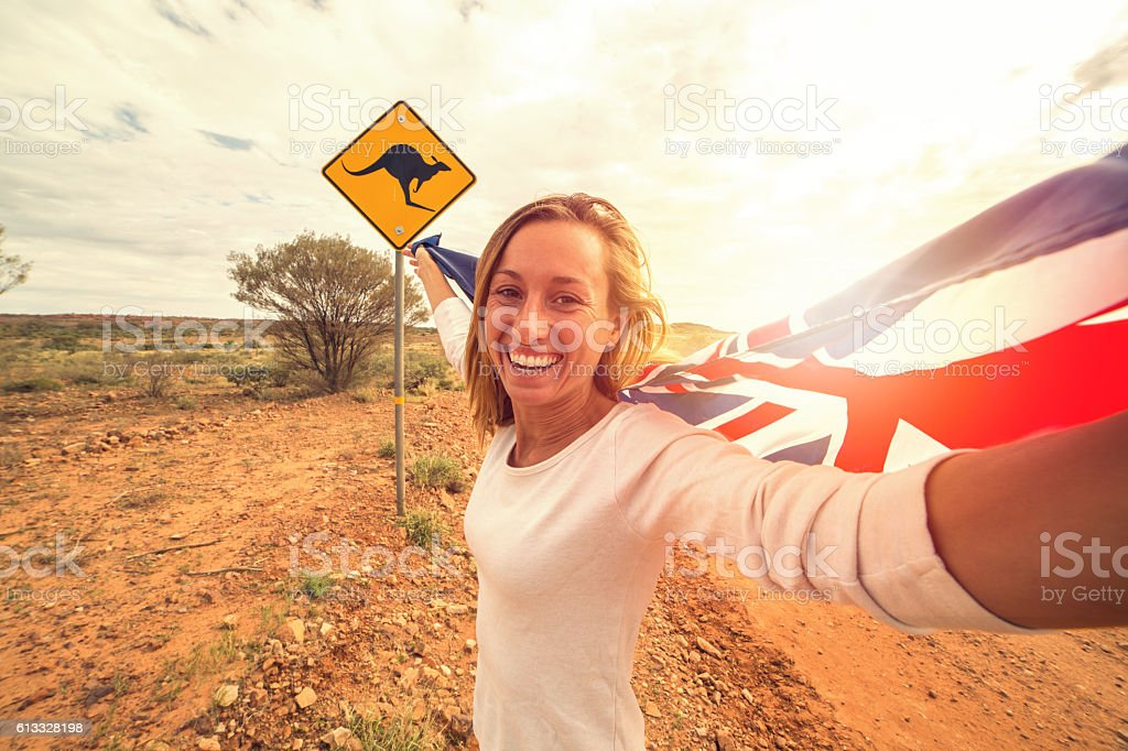 Australian selfie stock photo