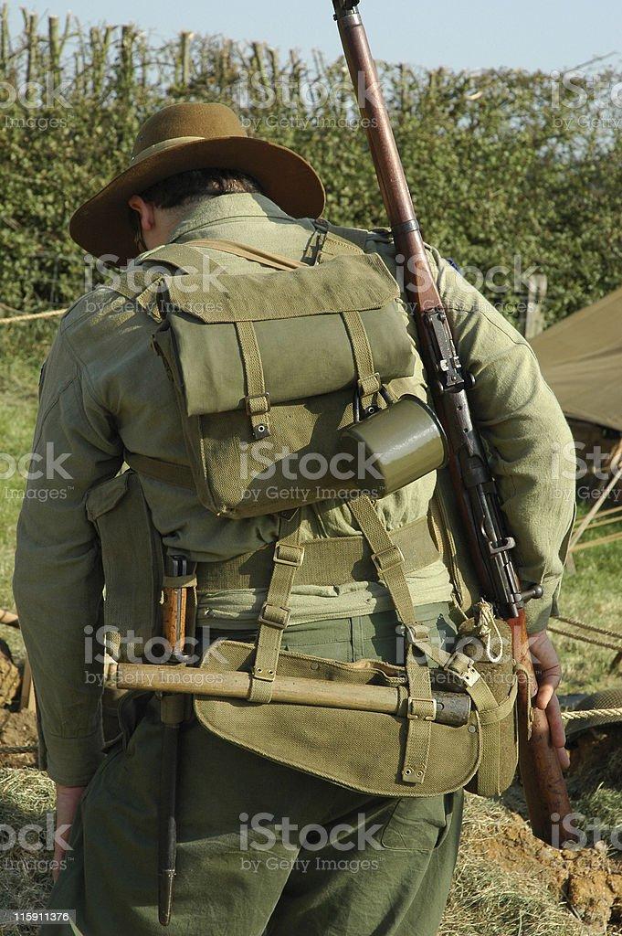 Australian Soldier royalty-free stock photo