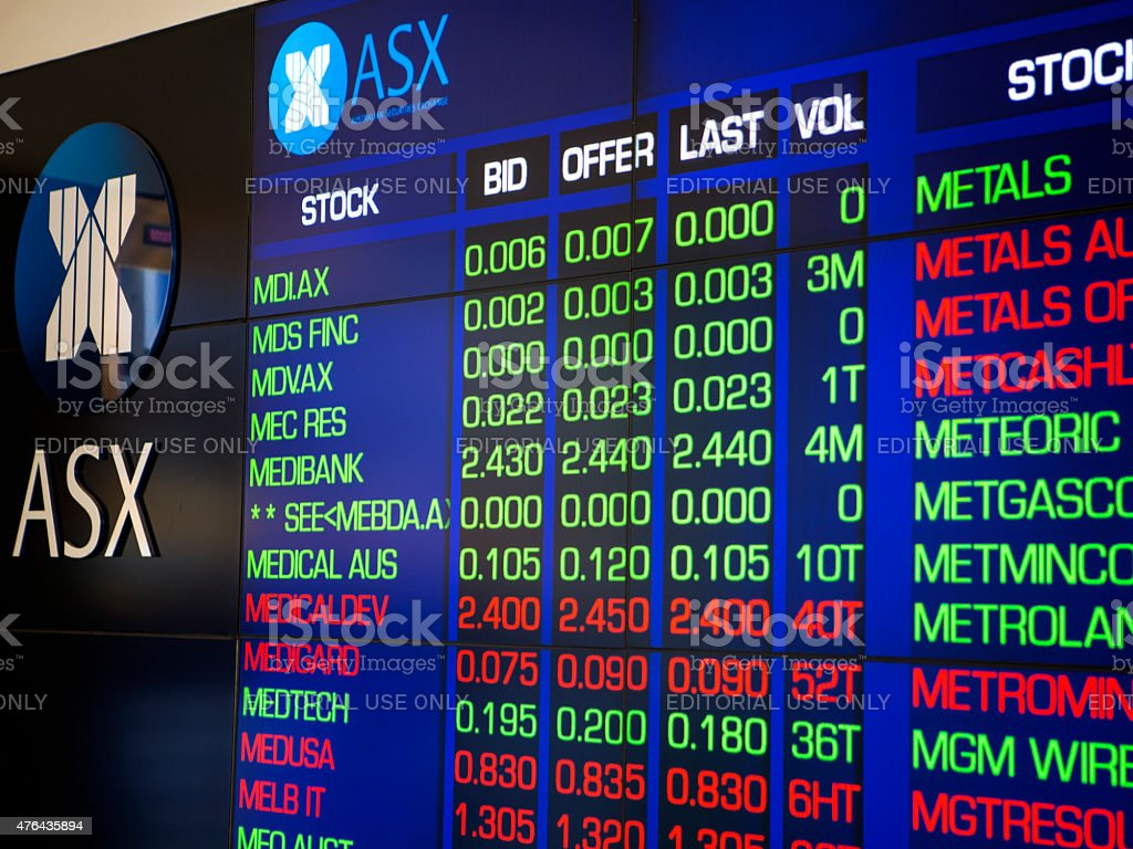 Australian Stock market stock photo