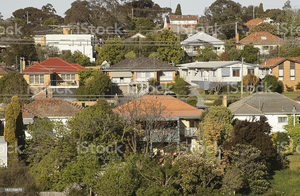 Australian suburb royalty-free stock photo
