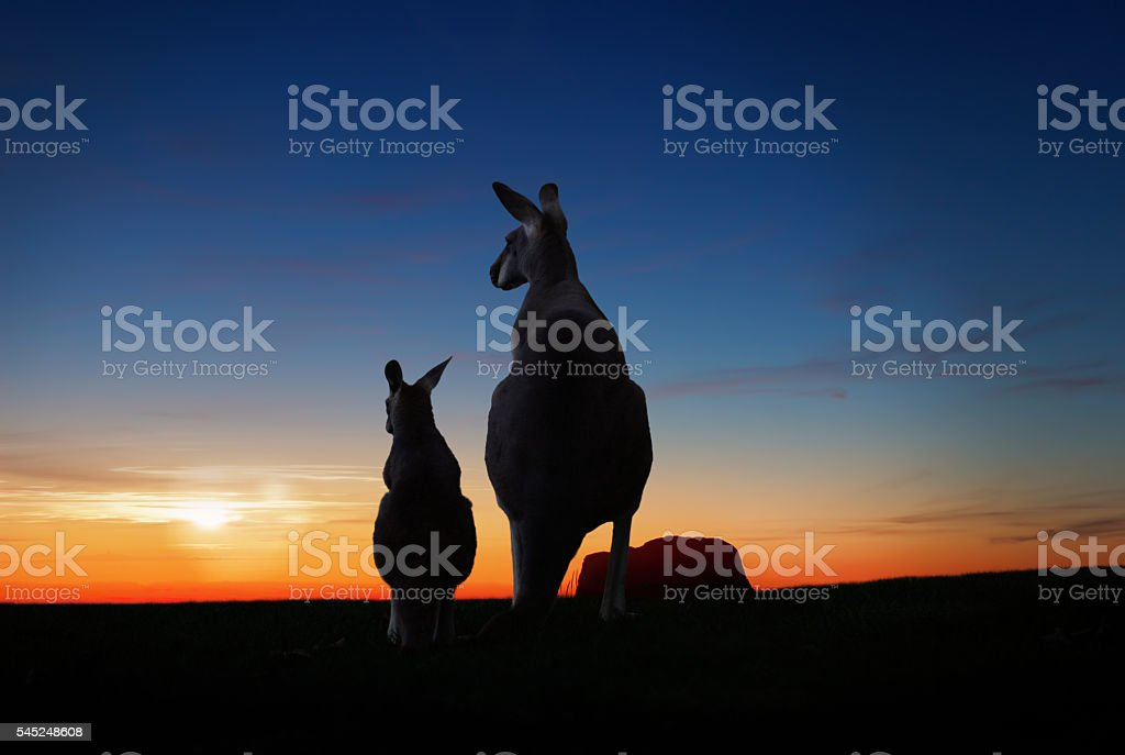 australian sunset stock photo
