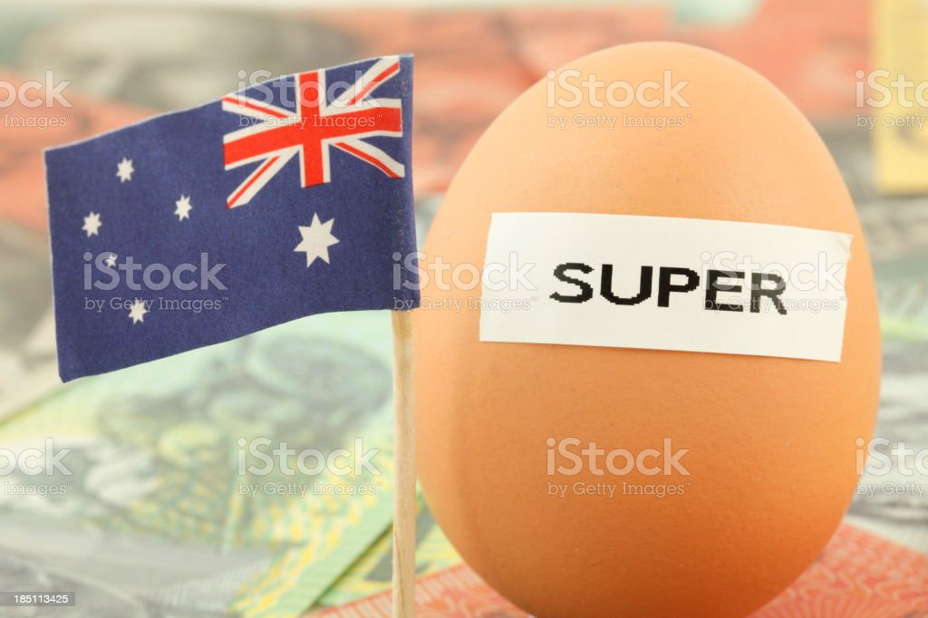 Australian Superannuation royalty-free stock photo