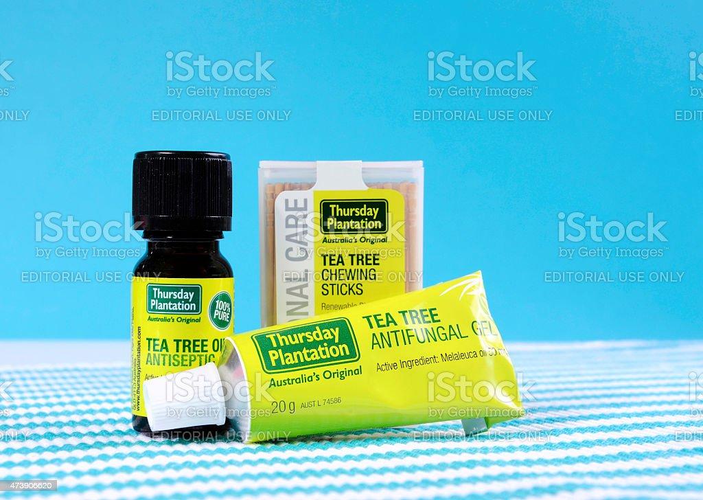 Australian Tea Tree Oil products stock photo