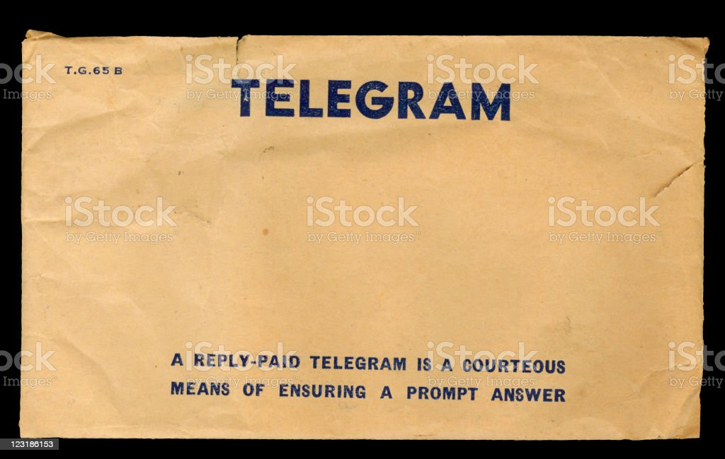 Australian Telegram Envelope stock photo