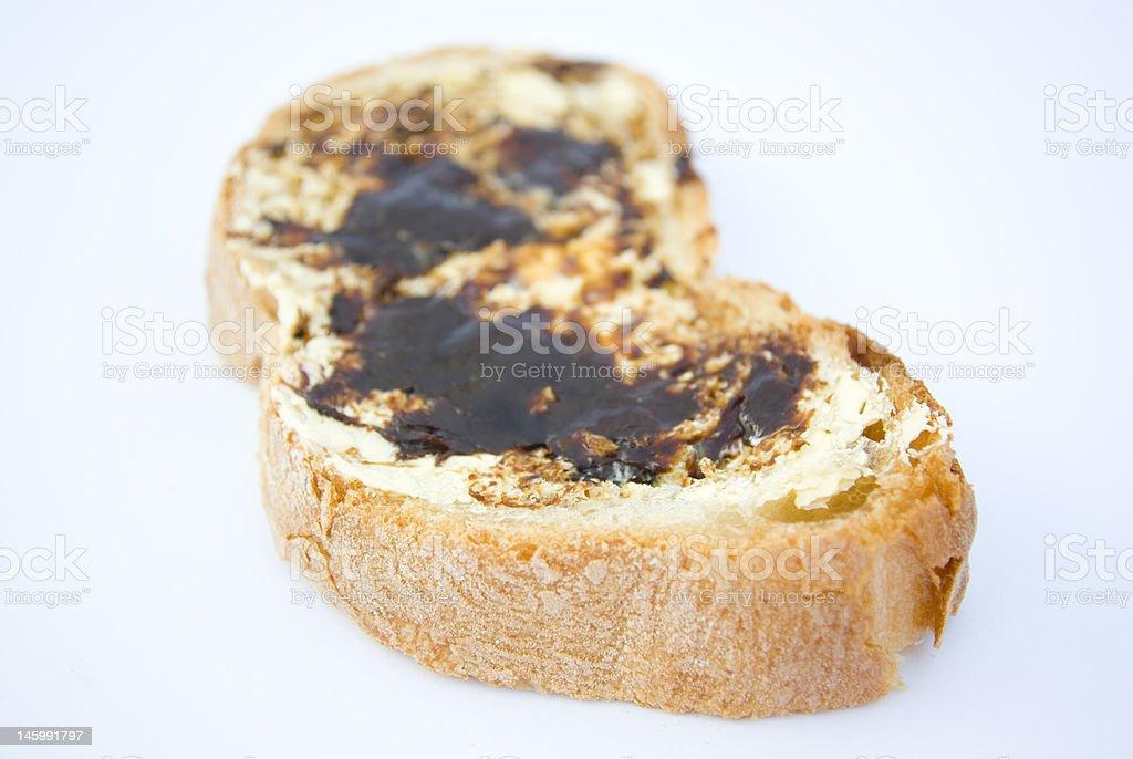 australian vegemite sandwich royalty-free stock photo