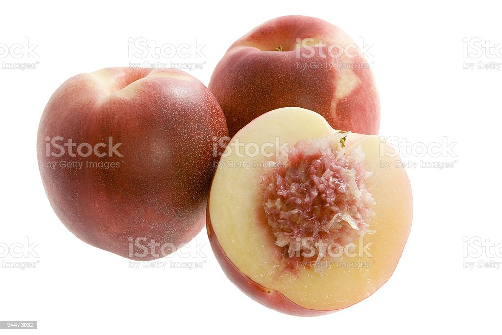 Australian white flesh nectarine stock photo