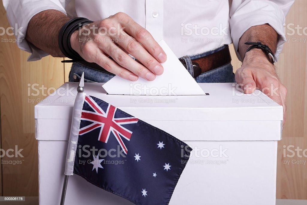 Australians to vote stock photo